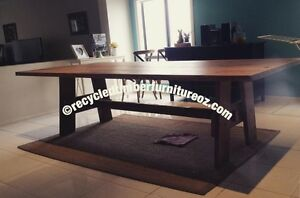 Brand new recycled Oregon dining table with A frame wooden legs South Morang Whittlesea Area Preview