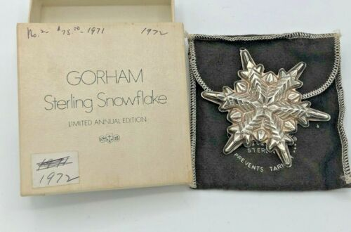 Gorham Sterling Silver 192 Annual Snowflake Ornament, with Box