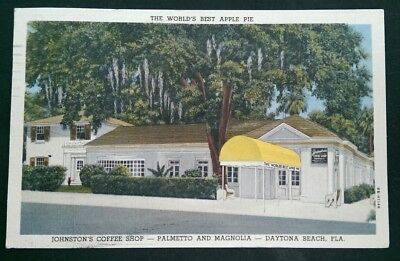 ZP044 World's Best Apple Pie Postcard Coffee Shop Daytona Beach FL