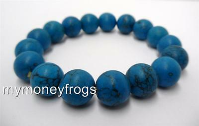 BLUE Glass Tibet Tibetan Buddha Monk Buddhist Mala Bracelet Prayer Bead Chinese