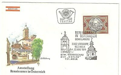 Ersttagsbrief, Österreich, 1974, Renaissance in Österreich