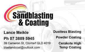 Sandblasting and powder coating Clontarf Redcliffe Area Preview