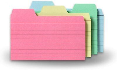 Find-it Tabbed Index Cards 3 X 5 Inches Assorted Colors