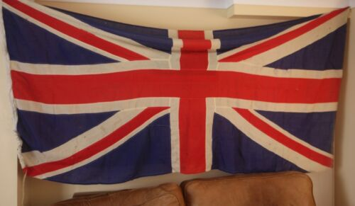 Original Vintage Large Union Jack. Stitched Panel Flag. 8 1/2 ft by 4 1/2 ft.