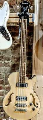 Ibanez Artcore AGB200 4-String Hollowbody Electric Bass Guitar, Natural