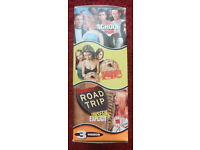 OLD SCHOOL UNSEEN / ROAD TRIP UNSEEN / AMERICAN PIE UK PAL VHS 3 VIDEO BOX SET