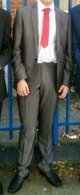 Boys grey prom suit