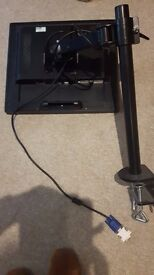 19 inch Computer monitor with adjustable off desk swivel support - 2 available