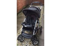 3 way pram with car seat and extras