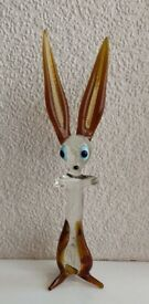 Beautiful Murano Glass Rabbit Ornament