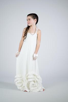 NWT PIXIE GIRL VICKI SIGG Full Bloom Maxi Ivory Girls sz 3T - Pixie Girl Dresses