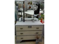 Shabby Chic, Vintage Dressing Table and Mirrors