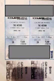 2x Standing Floor tickets Weeknd Melbourne Saturday hardcopy