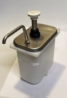 Soda Fountain Syrup Dispenser Server Fp-v White Mocha Starbucks 186 List Price