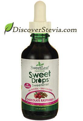 Raspberry Sweetener - Sweet Leaf Sweet Drops Sweetener Liquid Stevia 2 oz Chocolate Raspberry Flavor