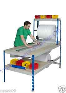 Rivet Rack Packing Bench - Warehouse Work Station