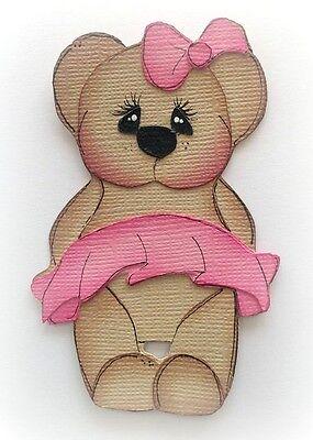 BABY BALLERINA BEAR GIRL PREMADE PAPER PIECING PIECE 3D DIE CUT MYTB  KIRA
