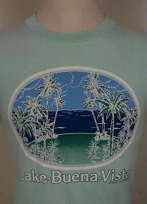 Vtg Lake Buena Vista 80's 1989 T Shirt Palm Tree Beach Surf M Hipster (Lake Buena Vista Beach)