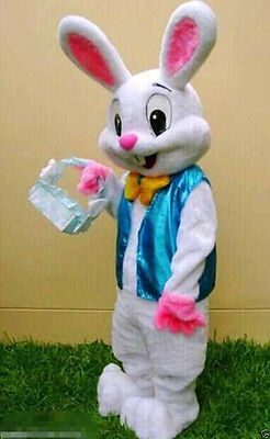 2019 Hot Adults Easter Bunny Mascot Costume Cartoon Rabbit Cosplay Fancy - Costume Cartoon