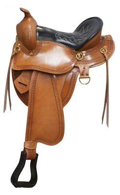 "Used, GAITED SADDLE WESTERN SADDLE 17"" TRAIL NEW HORSE TACK for sale  Bidwell"