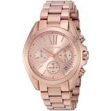 Michael Kors Women's Bradshaw Chrono 100m Rose Gold Tone S. Steel Watch MK5799