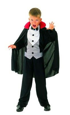 Vampir-Halloweenkostüm für Jungen schwarz-grau-weiß - Vampir Kostüm Für Jungs