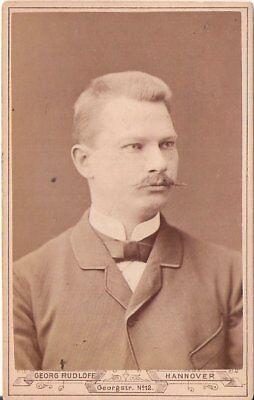 CDV Foto Herrenportrait mit Widmung - Hannover 1886