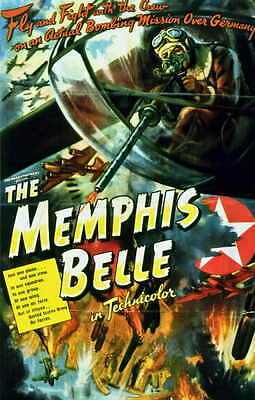 THE MEMPHIS BELLE: A STORY OF A FLYING FORTRESS Movie POSTER 11x17 Robert Morgan