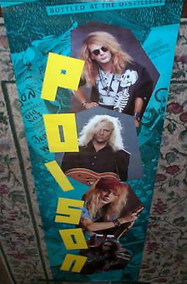 Poison Huge Vintage Door Sized Poster Bret Michaels