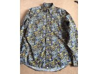 Pretty Green paisley shirt XS mint