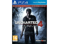 PS4 GAME FOR SALE - UNCHARTED 4 A THIEF'S END - EXCELLENT CONDITION