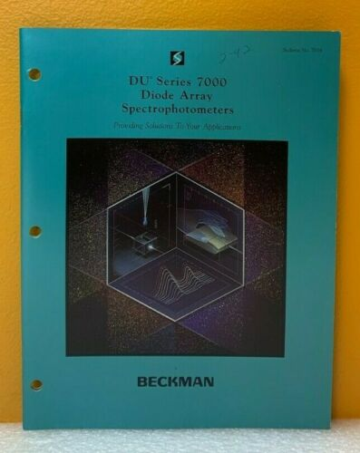 Beckman DU Series 7000 Diode Array Spectrophotometers Bulletin No. 7854 Catalog.