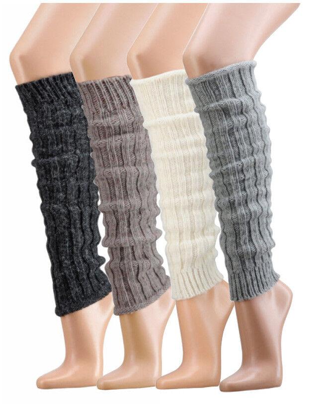 Damen Bein Stulpen Winter Warm Strümpfe Socken Legwarmer Alpakawolle Beinstulpen