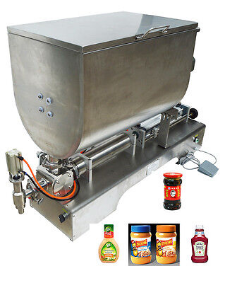100-1000ml Liquid Paste Filling Machine With Mixing Function Piston Filler