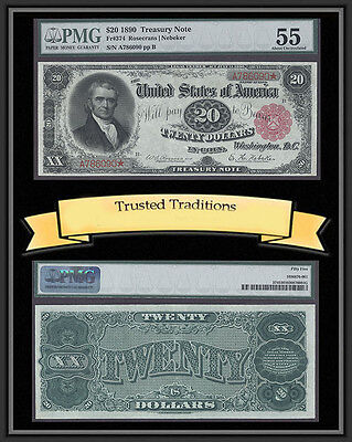 Click now to see the BUY IT NOW Price! TT FR 374 1890 $20 TREASURY NOTE ORNATE BACK  PMG 55 RED SEAL