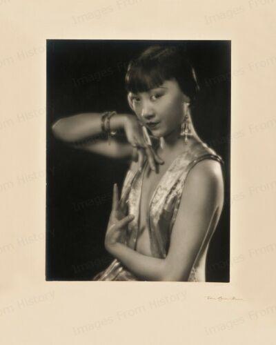 8x10 Print Anna May wong Fashion Portrait by Edwin Bower Hesser Sepia #6121
