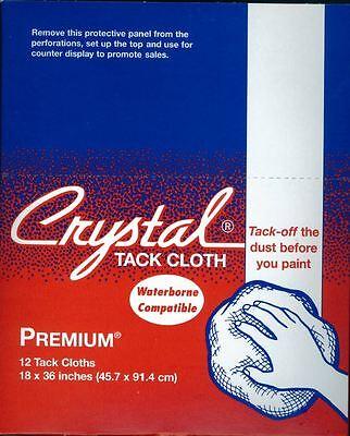 """Crystal Brand 18"""" x 36"""" Premium Tack Cloths, 12 Cloths Per Box"""