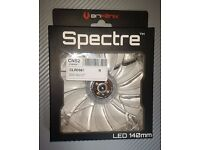 BitFenix Spectre 140mm transparent NOISELESS PC Fan with 4 cold White LEDs (1000 rpm)