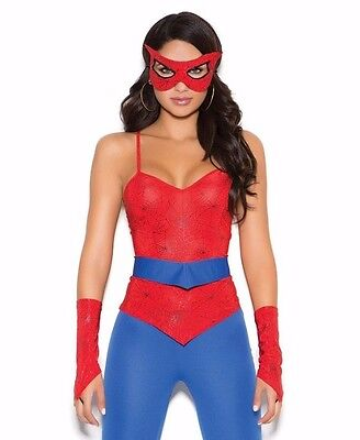 Spiderman Halloween Costume For Women (Sexy Spiderman Costume Medium M Women Halloween Cosplay Spider Mask)