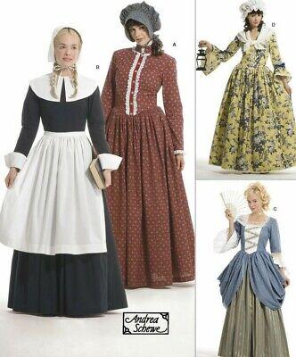 S3723 Nähen Muster 4 Kostüme Pioneer Puritan Pilgrim Amerikanische Revolution