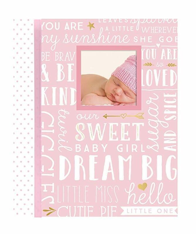 MY BABY FIRST MEMORIES BOOK - LIL PEACH GIRLS DREAM PINK - KEEPSAKE RECORD ALBUM