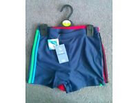 Brand New Two Pack Boys Swimming Trunks.