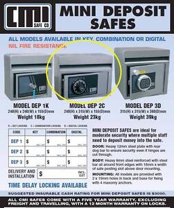 CMI DEPOSIT SAFE, GREAT CONDITION ONE KEY SPECS ATTACHED IN PICS Hornsby Hornsby Area Preview
