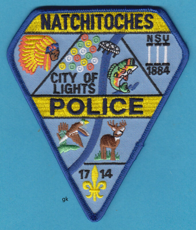NATCHITOCHES LOUISIANA POLICE SHOULDER PATCH