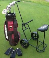 Golf clubs men's RH Brosnan + bag + buggy great condition Bundoora Banyule Area Preview