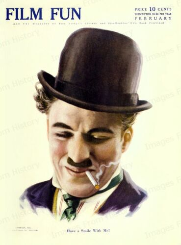 8x10 Print Charlie Chaplin Film Fun Magazine Cover 1918 #FFM