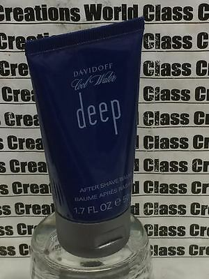 5 X COOL WATER DEEP FOR MEN BY DAVIDOFF -1.7 OZ EACH AFTER SHAVE BALM - NO BOX