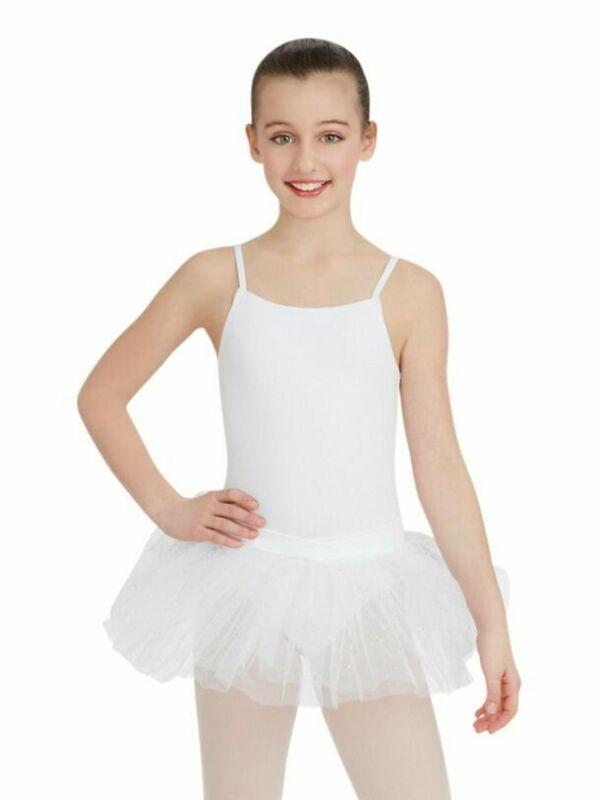 CAPEZIO+N9814C+Camisole+glitter+tutu+with+bow+INTERMEDIATE+6-7+AGE+BNWT+ballet