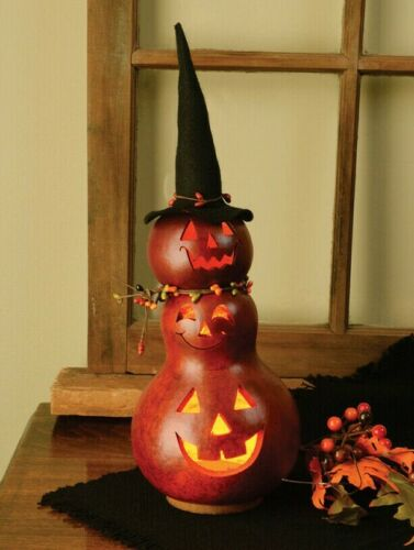 """NEW!! Beautiful Country Autumn Halloween REBA The Witch 15"""" Tall Lite Up Gourd"""