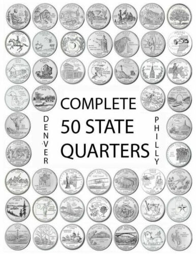 1999 - 2008 D Choose Any State Quarters From The U.S. Denver Mint